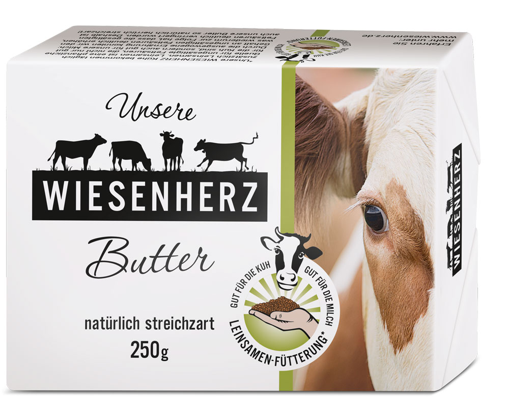 Packaging Design Wiesenherz Butter rickert Markenagentur