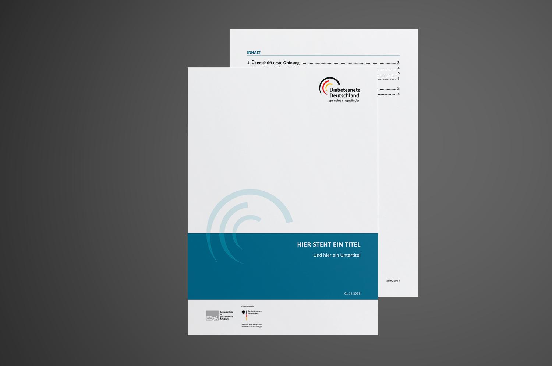 Gestaltung Konzeptpapier Titel Diabetesnetz Deutschland