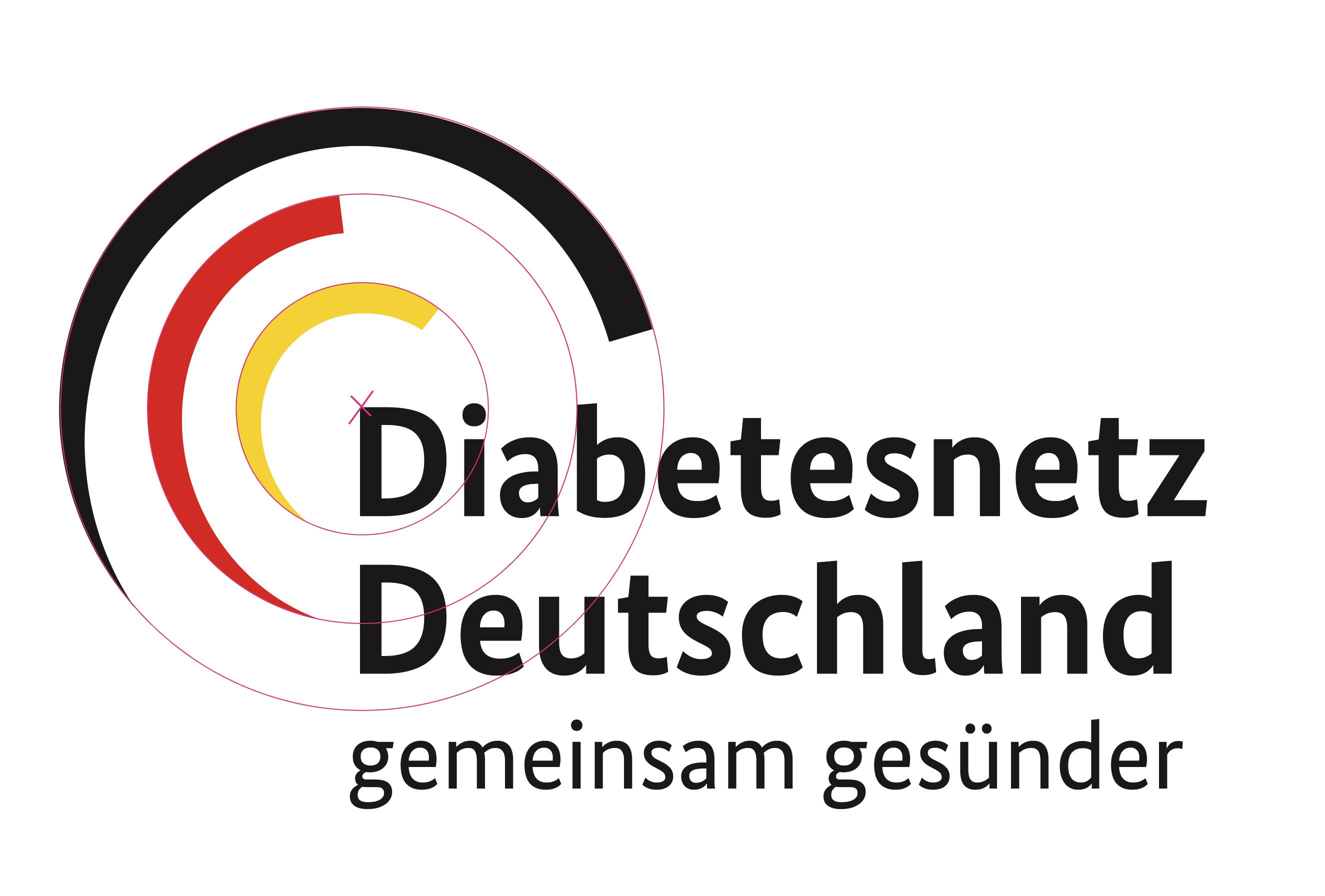 Logo Diabetesnetz Deutschland inklusive Vermassung