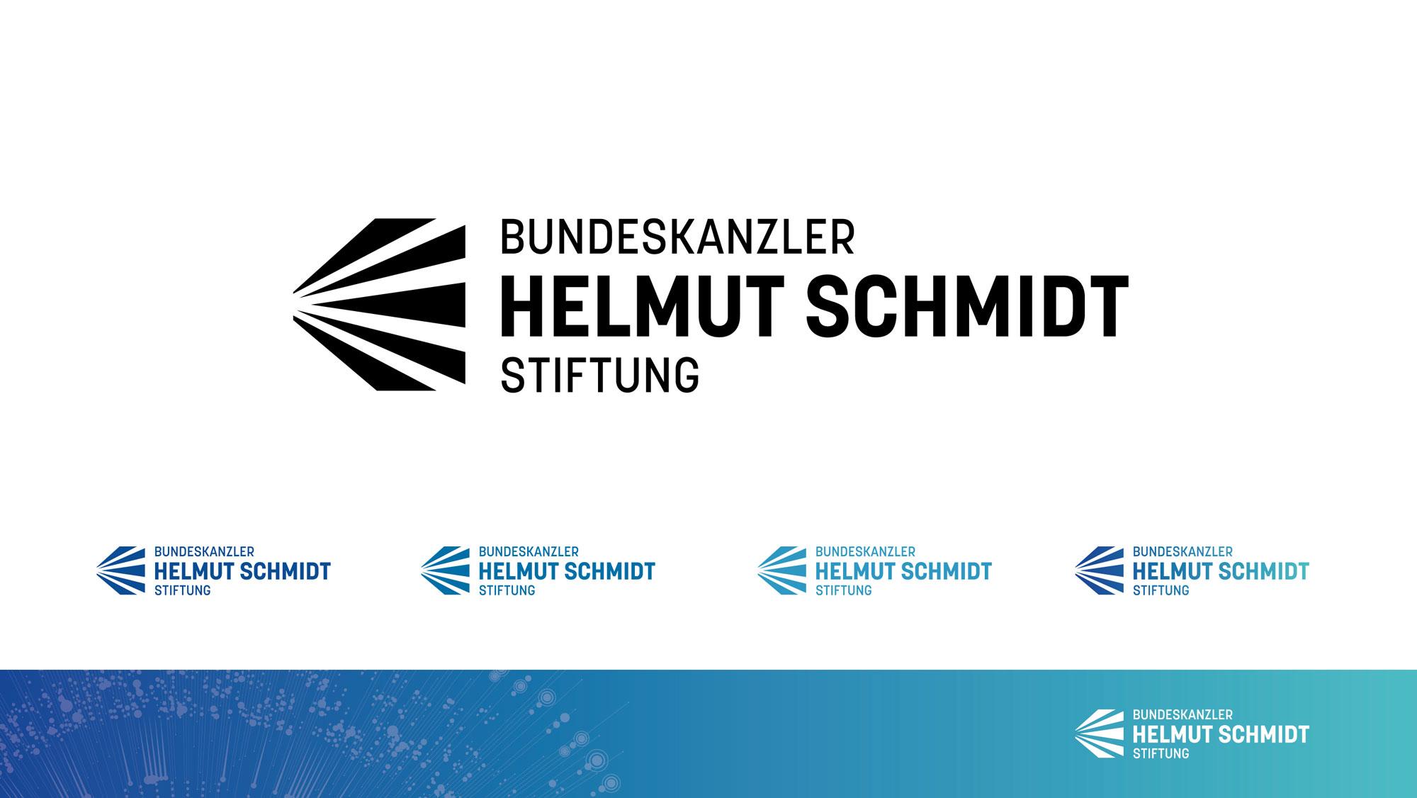 Corporate Design Bundeskanzler Helmut Schmidt Stiftung Logo Varianten