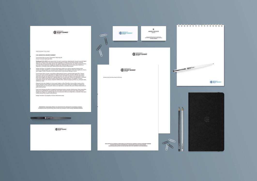 Corporate Design Bundeskanzler Helmut Schmidt Stiftung Stationery