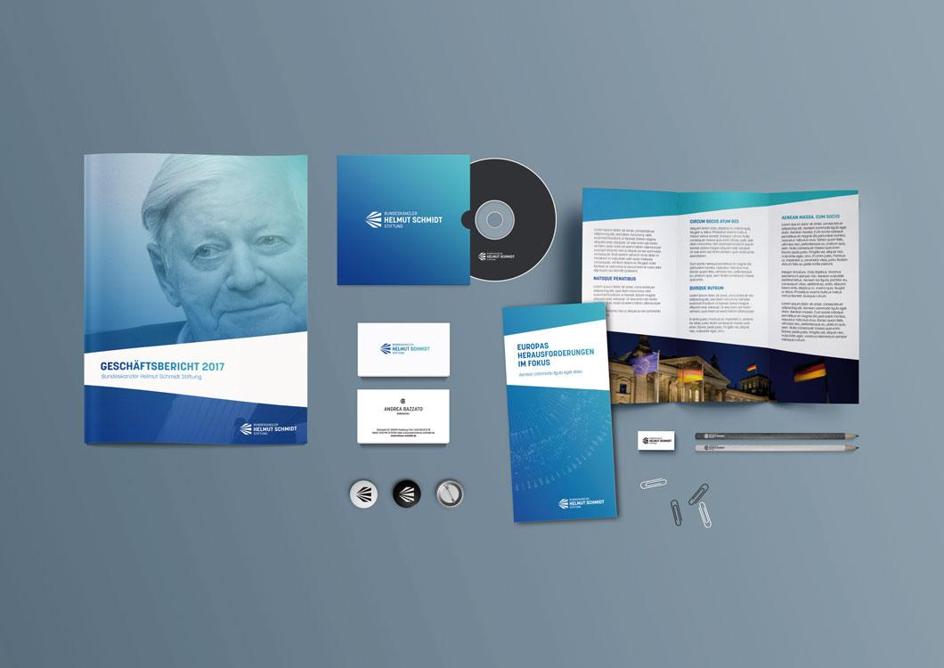 Corporate Design Bundeskanzler Helmut Schmidt Stiftung Stationery 1